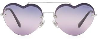Miu Miu 58MM Browline Heart Sunglasses