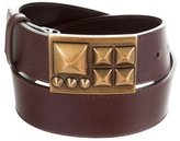 Burberry Leather Studded Buckle Belt