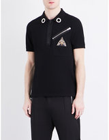Givenchy Eyelet-collar Cotton-piqué Polo Shirt