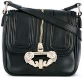 Versace zip detail satchel
