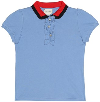 Gucci Kids Cotton polo shirt