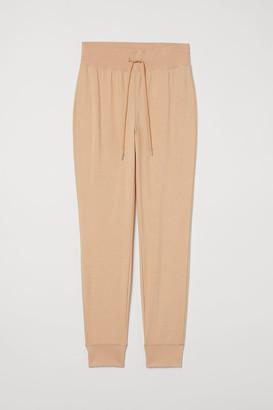 H&M Cotton-blend Joggers - Beige