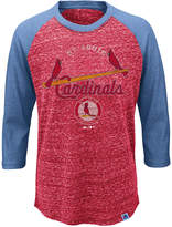 Majestic Kids' St. Louis Cardinals Coop Raglan T-Shirt