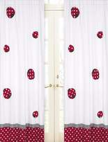 JoJo Designs Sweet Red and White Polka Dot Ladybug Window Treatment Panels -Set of 2