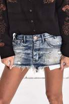 One Teaspoon Junkyard Distressed Skirt