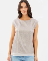 Oasis Metallic Wrap Back Tee