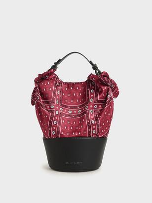 Charles & Keith Purpose Collection - Bandana Print Bucket Bag