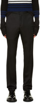 Yang Li Black Twisted Seam Trousers
