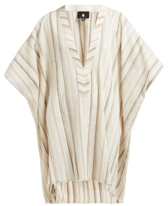 BEIGE Su Paris - Zan V-neck Cotton Kaftan - Womens