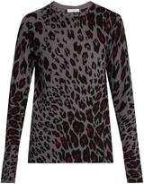 Equipment Sloane cheetah-print cashmere sweater