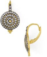 Freida Rothman Pave Bullseye Earrings
