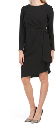 Long Sleeve Side Ruched Dress