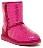UGG Classic Short Sparkles Genine Sheepskin Lined Boot (Big Kid)