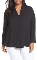 Nic+Zoe Plus Size Women's Majestic Matte Satin Blouse