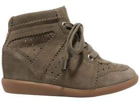 Isabel Marant Etoile Bobby Perforated Suede Wedge Sneakers