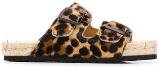 Manebi Leopard-Print Sandals