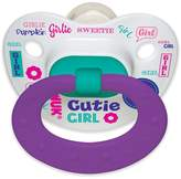 NUK Baby Talk Puller Pacifier in Assorted Colors and Styles, Girl, 0-6 Months