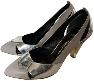 Gaspard Yurkievich Grey Patent leather Heels