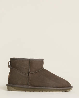 Emu Dark Olive Stinger Micro Shearling-Lined Suede Boots