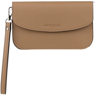 Mocha Simple Chain Clutch Bag - Tan