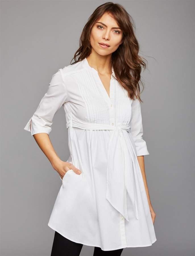 75838ae7b45e5 White Collared Shirt Maternity - ShopStyle