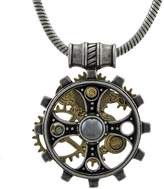 Alchemy Foundryman`s Ring Cross Steampunk Pendant w/ Necklace