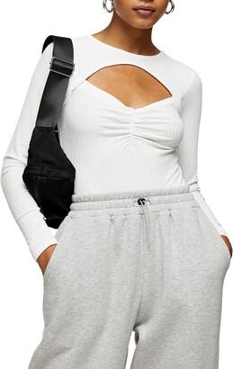 Topshop Sweetheart Cutout Bodysuit