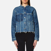 Helmut Lang Women's Ghost Wash Denim Jacket Light Blue