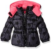 Pink Platinum Girls' Infant Tonal Heart Print Puffer Jacket