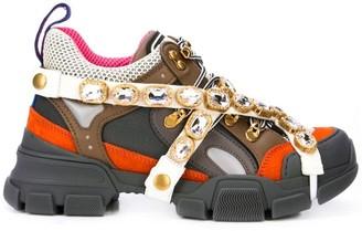 Gucci Flashtrek crystal sneakers