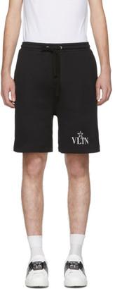 Valentino Black VLTN Star Jersey Shorts