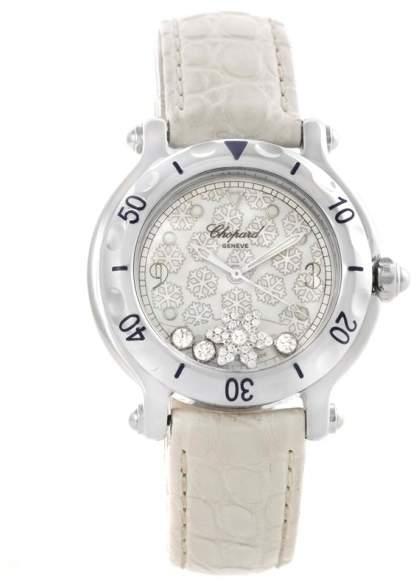 Chopard Happy Sport 278949-3001 Stainless Steel & White Strap Quartz 32mm Womens Watch