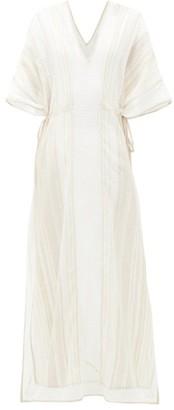 My Beachy Side - Kafras Metallic Cotton-voile Maxi Dress - Tan