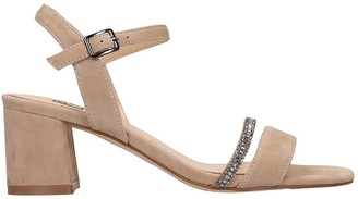 Bibi Lou Sandals In Taupe Suede