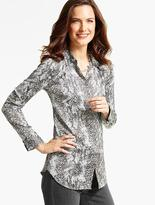 Talbots Drapey Textured Blouse - Animal Print