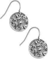 Nine West Hammered Drop Earrings