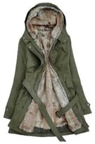 Benibos Women's Thicken Fleece Faux Fur Coat (S, )