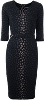 Samantha Sung jacquard fitted dress