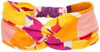 Il Gufo Floral Print Cotton Headband