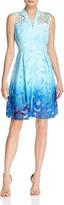 Elie Tahari Kalli Ombre Lace Dress