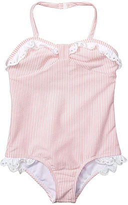Janie and Jack Seersucker Swimsuit (Toddler/Little Kids/Big Kids) (Multi) Girl's Swimsuits One Piece