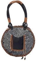 San Diego Hat Company Women's Paperbraid Tote BSB1562 - Black/White Casual Handbags