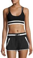 Blanc Noir Ballet Wrap Sports Bra Top, Black