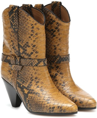 Isabel Marant Deane snake-effect cowboy boots