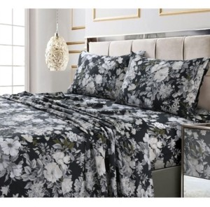 Tribeca Living Vernazza Printed 300 Tc Cotton Sateen Extra Deep Pocket Twin Xl Sheet Set Bedding