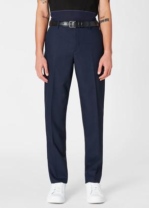 Paul Smith Men's Slim-Fit Dark Navy Wool Trousers