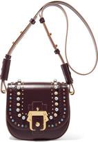 Paula Cademartori Babeth mini embellished leather shoulder bag
