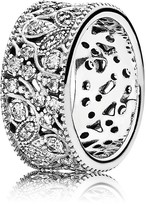 Pandora Ring - Sterling Silver & Cubic Zirconia Shimmering Leaves