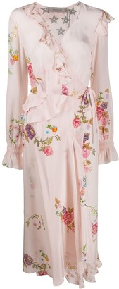 Preen Line Eden floral wrap dress