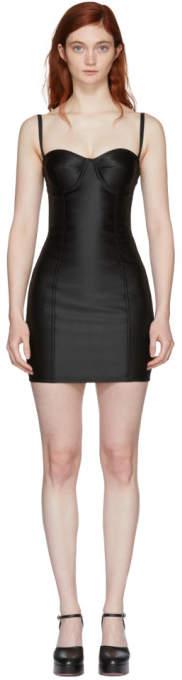 Dolce & Gabbana Black Sateen Bustier Dress